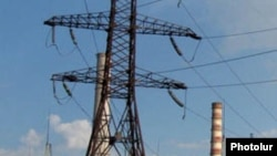Armenia - An electricity transmission line.