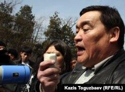 """""""Журналистер қатерде"""" қоғамдық қорының президенті Рамазан Есіргепов."""