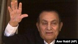 Ҳуснӣ Муборак, раиси ҷумҳури пешини Миср. Акс аз моҳи апрели соли 2016