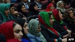 Афганские женщины в парламенте. Кабул, 6 марта 2013 года.