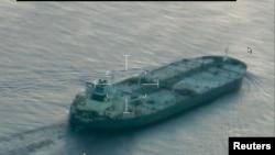 تصویری از نفتکش «یونایتد کالاوروتا» که حامل یک میلیون بشکه نفت اقلیم کردستان عراق است.