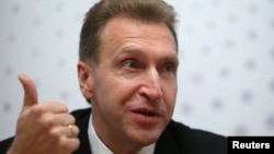 Russian First Deputy Prime Minister Igor Shuvalov says that imposing sanctions on Russia won't change President Vladimir Putin's behavior in the way Western countries want.