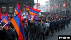 Մարդու իրավունքների պաշտպանության օրվան նվիրված երթը Երևանում, 10-ը դեկտեմբերի, 2010