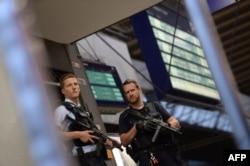 Poliția după evacuarea Gării centrale de la München