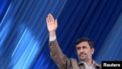 President Mahmud Ahmadinejad (in file photo) reportedly presided over a launch ceremony.