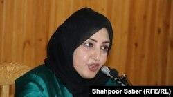 زهره بیان شینواری رئیس کمیسیون شکایات انتخاباتی افغانستان