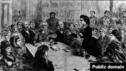 Виктория Вудхалл дважды пыталась войти в Белый дом президентом. На выступлении перед членами конгресса
