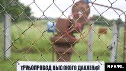 An oil-pipeline tap in Belarus (file photo)