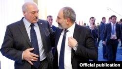 Հայաստանի վարչապետ Նիկոլ Փաշինյան և Բելառուսի նախագահ Ալեքսանդր Լուկաշենկո, արխիվ
