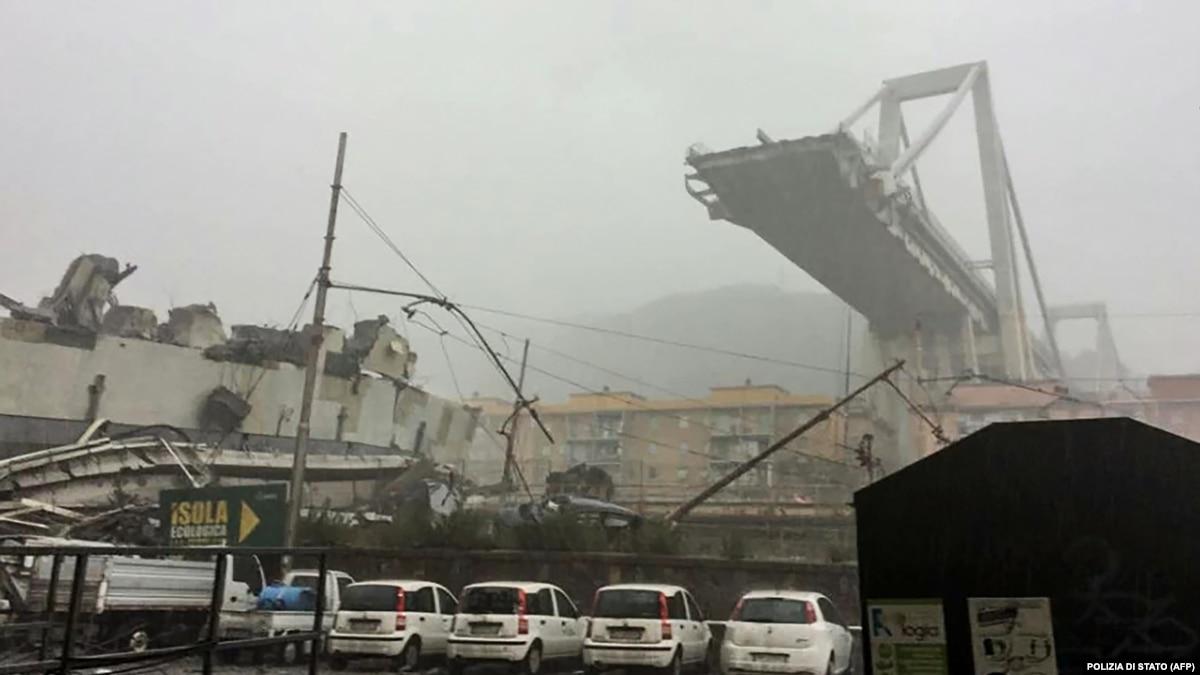 Обвал моста в итальянской Генуе: количество погибших возросло до 42
