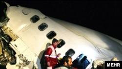 یکی از نخستین تصاویر منتشر شده از هواپیمای سانحه دیده در نزدیکی ارومیه