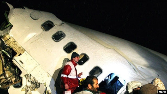 The Boeing 727 crashed in a snowstorm after being unable to land at Orumieh Airport late on January 9.