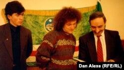 Dan Alexe cu președintele Djokhar Dudaev în Cecenia