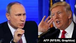 Russian President Vladimir Putin (left) and U.S. President Donald Trump spoke for about 30 minutes.