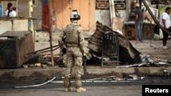 Pamje nga një sulm i mëparshëm me bombë në Irak