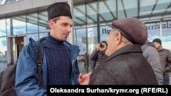 Рустем Ваитов в аэропорту Симферополя