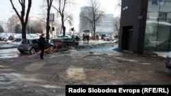 Macedonia - Melting snow reveals damaged streets - Skopje 24-2-2012
