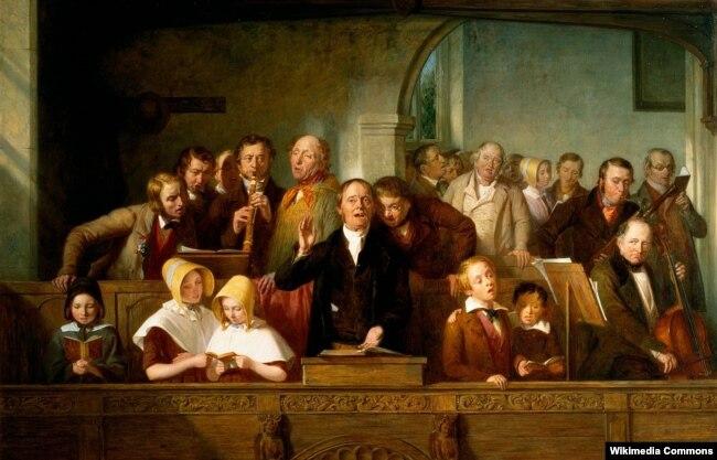 Томас Ўэбстэр «Вясковы хор» (1847)