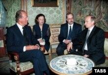 Владимир Путин и Хуан Карлос I в королевском дворце Ориенте во время предыдущего визита российского президента в Испанию