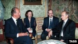 Владимир Путин в гостях у испанского монарха в 2000