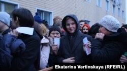 Жители Иркутска на встрече с Алексеем Навальным