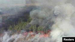Пожар приближается к корпусам АЭС, 12 апреля 2020