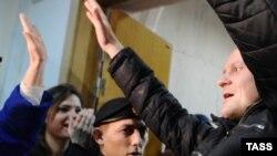 Координатор «Левого фронта» Сергей Удальцов в Басманном суде