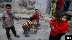 Suriyada uşaqlar