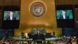 Президент Украины Петр Порошенко на Генеральной Ассамблее ООН. Нью-Йорк, 26 сентября 2018 года.