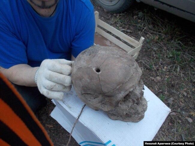 Череп, найденный в 2018 году на Мендурском полигоне