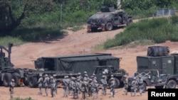 Военные учения Соединенных Штатов и Южной Кореи. Город Пажу, 22 августа 2016 года.