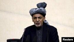 Owganystanyň prezidenti Aşraf Gani. 25-nji aprel, 2016 ý.