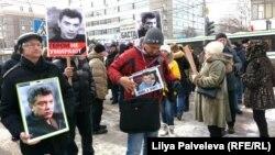 Марш памяти Бориса Немцова в Новосибирске, 26 февраля 2017