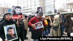 Новосибирскида Немцовны искә алу чарасында катнашучылар