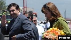 Михаил Саакашвили в Ереване. 2009 год