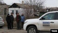 Një automjet i OSBE-së në Ukrainë