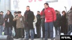 """Янкаускас на одном из митингов """"За честные выборы"""""""