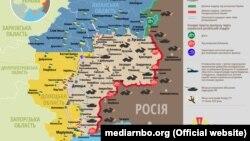 Ситуація в зоні бойових дій на Донбасі, 19 січня 2019 року. Інфографіка Міністерства оборони України