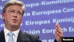 Еврокомесарот за проширување, Штефан Филе.
