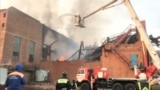 A firefighter died while trying to put out a blaze at a factory in southern Russia's Vladikavkaz city on October 21. (Reuters)