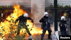 The debt crisis in Greece and subsequent protests last year had threatened to engulf the entire eurozone.