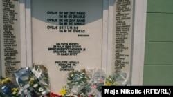 Spomen obilježje za poginule u masakru na tuzlanskoj Kapiji