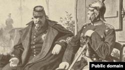 بیسمارک در کنار ناپلئون سوم پس از نبرد سدان؛ آلمان که با ابتکار صدراعظم صاحبنامش اتو فون بیسمارک شکل گرفته بود، خیلی زود در برابر همسایه ابرقدرتش فرانسه قد علم کرد.