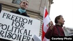 Акція білоруських емігрантів на захист політичних свобод у Білорусі, Вашингтон, грудень 2012 року