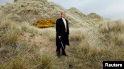 دونالد ترامپ برای بازی گلف به اسکاتلند رفته است