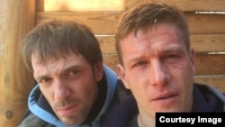 Андрэй Касцянаў (зьлева) и Сяргей Хазаў-Касія