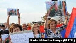 Protest la Sarajevo în sprijinul lui Ratko Mladic