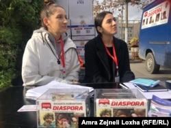 Prikupljanje pomoći u centru Prištine, 28. novembra