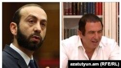 Спикер парламента Арарат Мирзоян (слева) и лидер ППА Гагик Царукян
