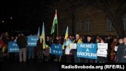 Украинцы Венгрии осуждают агрессию России против Украины, март 2014 года